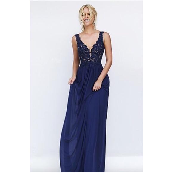 655c2ead3743 Dresses | Navy Prom Dress Open Back | Poshmark